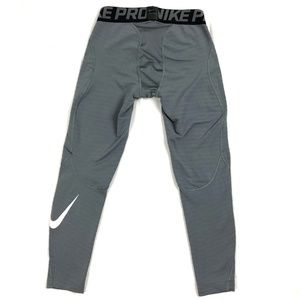 Nike Men's Pro Compression Pants Sz S Gray